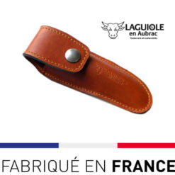 Etui cuir ceinture marron Laguiole en Aubrac