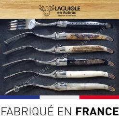 Fourchettes laguiole en aubrac en corne et os