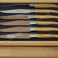 coffret de couteaux a steak laguiole olivier