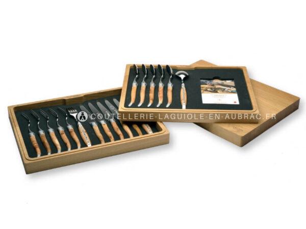 coffret de couteaux et fourchettes laguiole