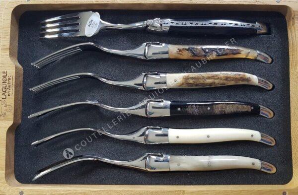 coffret de fourchettes laguiole en corne et os