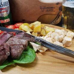 couteau à steak laguiole en aubrac corne