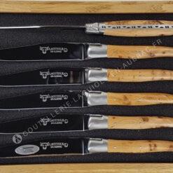 couteau à steak laguiole manche bois genevrier odorant