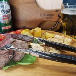 couteau et fourchette laguiole noir