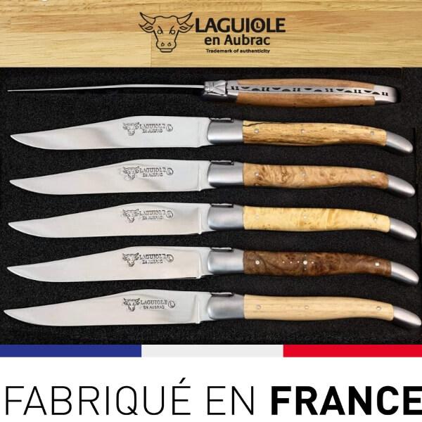 couteaux a steak laguiole bois europeens