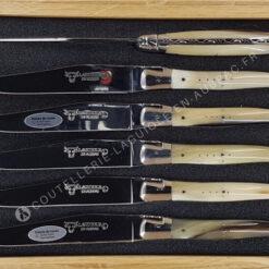 couteaux de table laguiole corne blonde