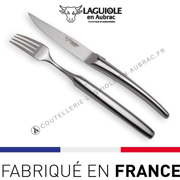 couteaux et fourchettes laguiole inox brillant ou mat