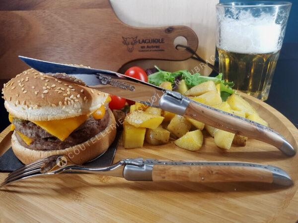 couteaux laguiole de table genevrier satine