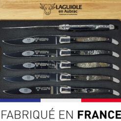 couteaux table laguiole croute de cornes belier ou buffle