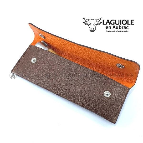 étui en cuir laguiole pour ceinture