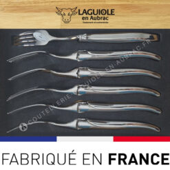 fourchettes et cuilleres laguiole tout inox brillant