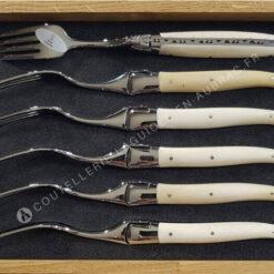 fourchettes laguiole blanches