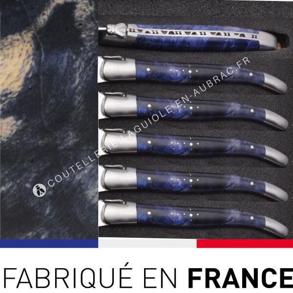 fourchettes laguiole bleues