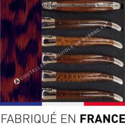fourchettes laguiole bois amourette