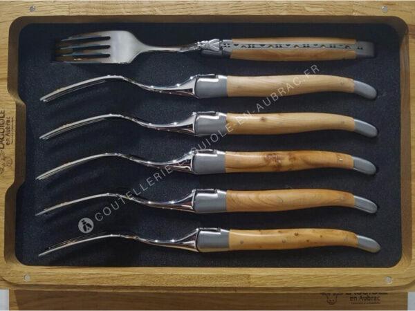 fourchettes laguiole bois de genevrier
