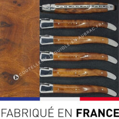 fourchettes laguiole bois de thuya