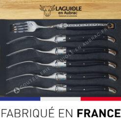 fourchettes laguiole bois ebene