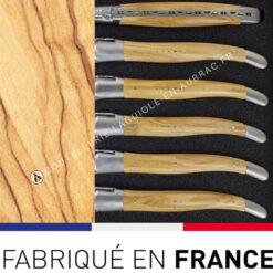 fourchettes laguiole bois olivier