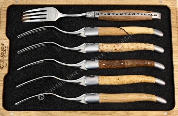 fourchettes laguiole en aubrac bois europeens