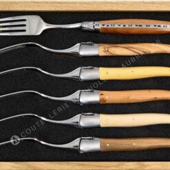 fourchettes laguiole en aubrac bois français