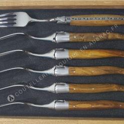 fourchettes laguiole en aubrac pistachier