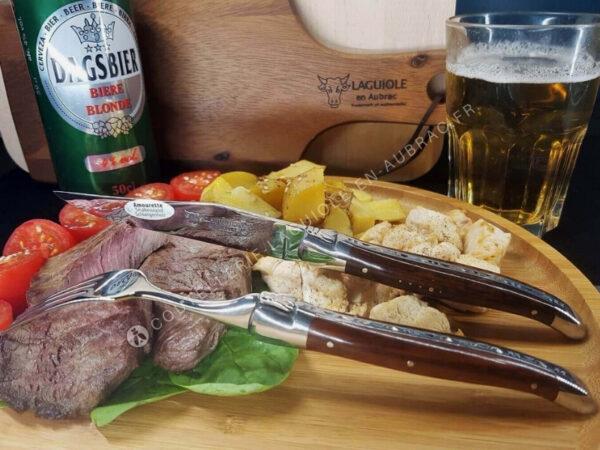 fourchettes laguiole manche amourette