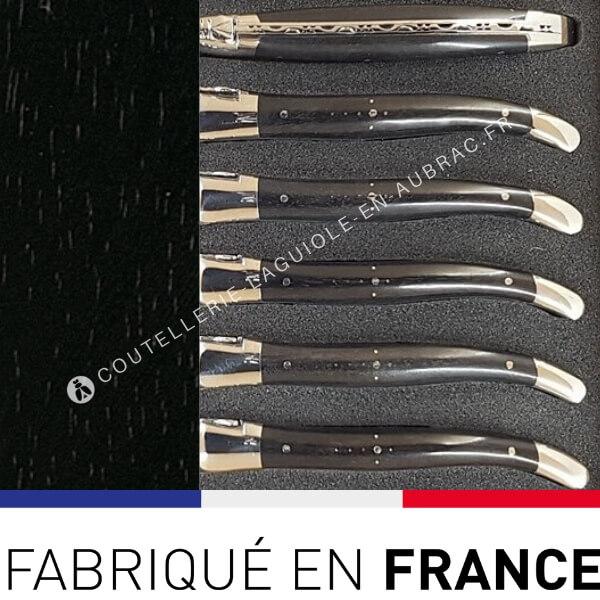 fourchettes laguiole noir ebene