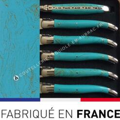 fourchettes laguiole turquoise