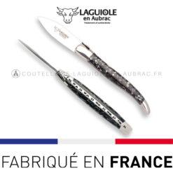 laguiole couteau a huitre manche coquilles de moule