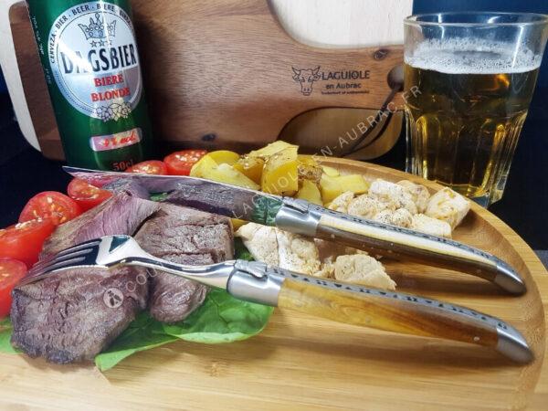 laguiole de table bois de pistachier