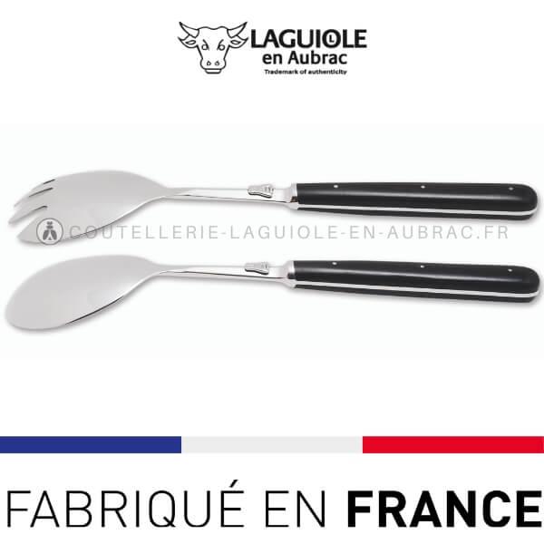 service a salade laguiole manche bois