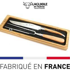 service chef 2 pieces laguiole olivier