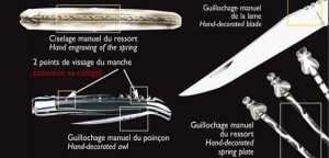 ciselage du ressort du couteau
