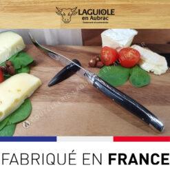 couteau a fromage corne de buffle noire