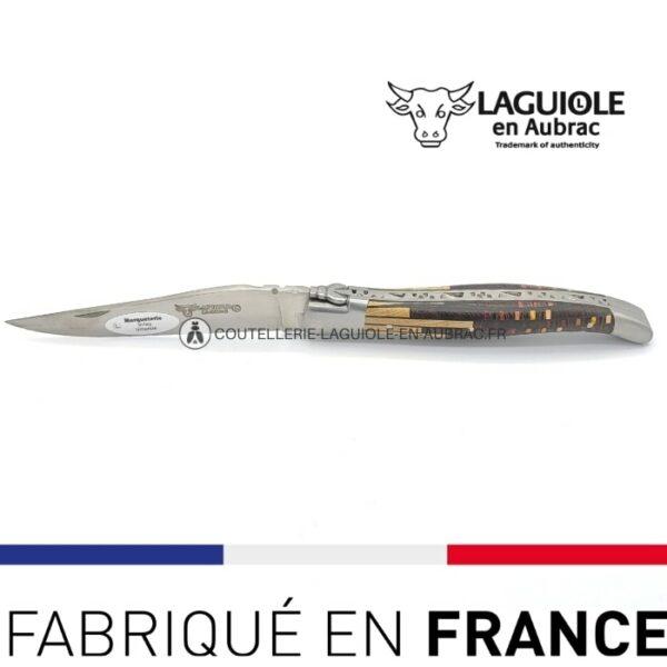 couteau de poche laguiole marqueterie etincelle