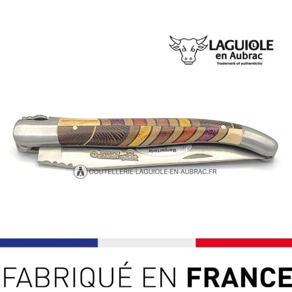 couteau de poche laguiole marqueterie orgue