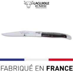 couteau de table laguiole ebene