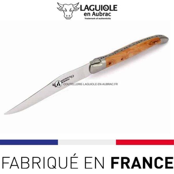 couteau de table laguiole en aubrac genevrier