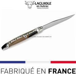 couteau de table laguiole en aubrac pointe de corn