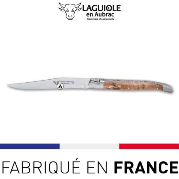 couteau de table laguiole genevrier
