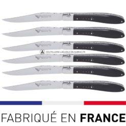 couteaux de table crocus laguiole ebene