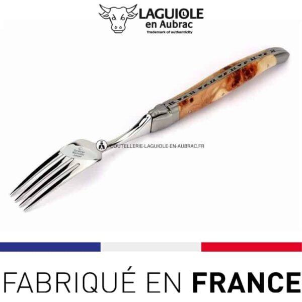 fourchette de table laguiole en aubrac genevrier