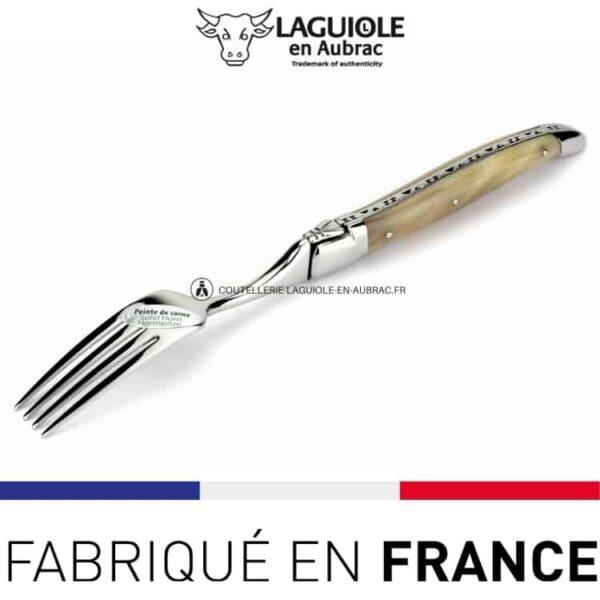 fourchette de table laguiole en aubrac pointe de corn