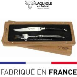 set 1 couteau 1 fourchette laguiole en aubracebene