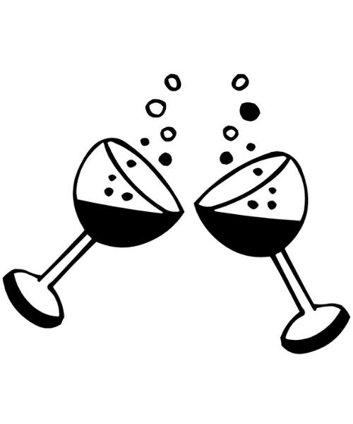2 verres de vin