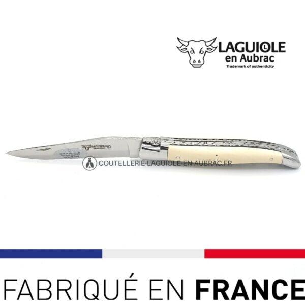 couteau laguiole ivoire de mammouth double platines